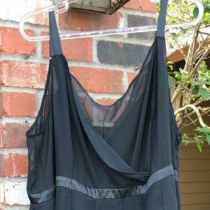 Black Sleeveless Holiday Dress Maxi